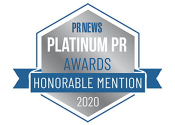PR News Platinum PR Awards - Honorable Mention 2020